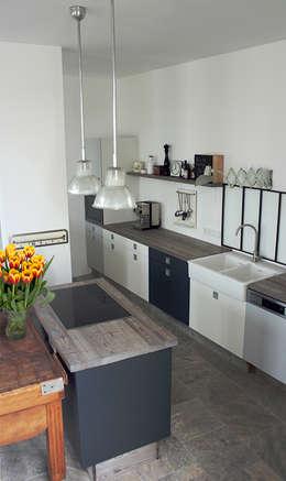 Küche und Bad im Vintage-Stil