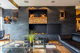 Гостиная в . Автор – Sobrado + Ugalde Arquitectos