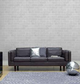 조각벽지_J0002_Marble Bricks Gray: U2의  벽 & 바닥
