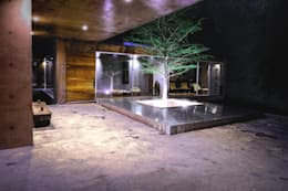 Jardines de estilo moderno por P+0 Arquitectura