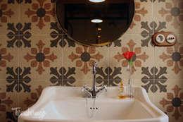Baños de estilo rústico por  Diseñadora de Interiores, Decoradora y Home Stager