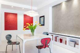 Appartamento a Monteverde: Sala da pranzo in stile in stile Minimalista di zero6studio - Studio Associato di Architettura