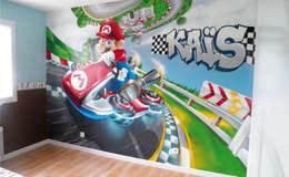 Décoration chambre d'enfant Mario Kart: Chambre d'enfants de style  par Popek décoration