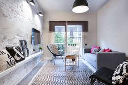 Projekty,  Salon zaprojektowane przez Dröm Living