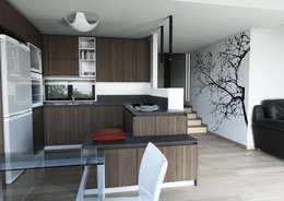Cocinas de estilo moderno por Architetto ANTONIO ZARDONI