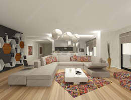Livings de estilo moderno por Fabbrica Mobilya