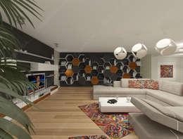 Fabbrica Mobilya – KUMTAŞ KONUT : modern tarz Oturma Odası