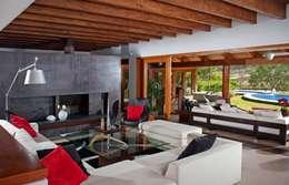 estancia principal: Salas de estilo moderno por Taller Luis Esquinca