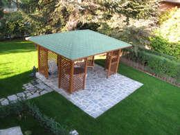 Villa Meina: Giardino in stile in stile Moderno di Matteo Verdoia Architetto