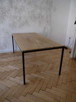 Eisenhauer Tisch: industriale Esszimmer von ADUS.design  Inh. Manuel Pfahl