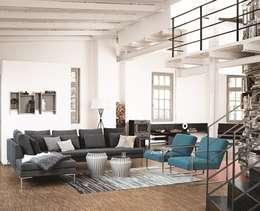 Projekty,  Salon zaprojektowane przez BoConcept Germany GmbH