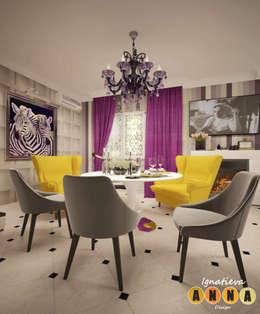 Загородный шик: Гостиная в . Автор – Дизайн-студия Анны Игнатьевой