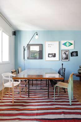 Residência Lorena: Salas de jantar ecléticas por Mauricio Arruda Design