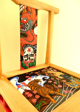Yakuza chair:   by Art From Junk Pte Ltd
