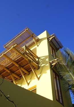 Casa Cracol: Balcones y terrazas de estilo topical por BR  ARQUITECTOS