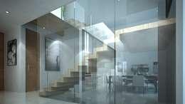 Detalle interior, Vista de la Escalera: Casas de estilo moderno por TaAG Arquitectura