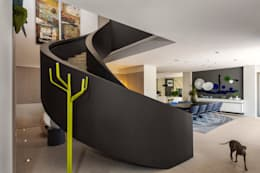 Projekty,  Korytarz, przedpokój i schody zaprojektowane przez C7 architects