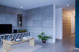 Departamento contemporáneo en Bosques de las Lomas: Salas de estilo moderno por Taller David Dana Arquitectura