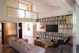 Salas de estilo moderno por Taller David Dana Arquitectura
