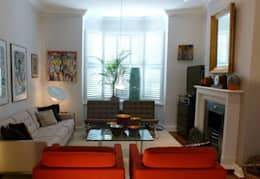 modern Living room by Schema Studio Limited