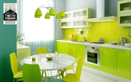Fris en fleurig de groene keuken