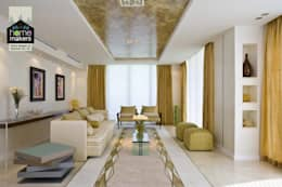Ultra-modern and 'never seen before' art only by home makers: modern Living room by home makers interior designers & decorators pvt. ltd.