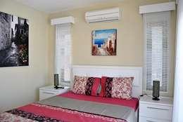 Estateinwest – Azure Villaları 4 Odalı Müstakil Villalar: modern tarz Yatak Odası