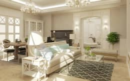 studio forma: klasik tarz tarz Oturma Odası