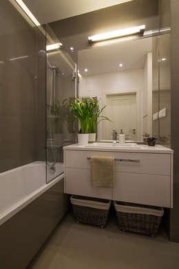 .nowoczesne kobiece mieszkanie w Warszawie: styl , w kategorii Łazienka zaprojektowany przez Art of home