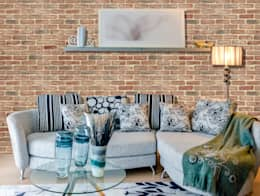 Rustic Brick: Paredes de estilo  por PANESPOL, Surface Lovers