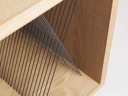 scandinavian Living room تنفيذ Elsa Randé,  design artisanal de fabrication française