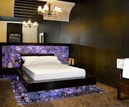 Amethyst Bed: modern Bedroom by Stonesmiths - Redefining Stone-Age