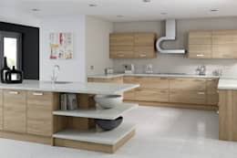 Modern Walnut Kitchen: modern Kitchen by Kitchens Continental Ltd