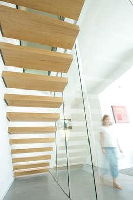 Maison dans les arbres: Maisons de style de style Moderne par ATELIER D'ARCHITECTURE ET D'URBANISME MARTIAL