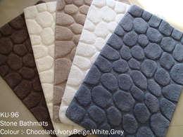 100% super-soft cotton tufted bathmats: asian Bathroom by Kansal Udyog