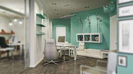 Офис туристического агентства: Рабочие кабинеты в . Автор – De Steil