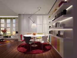 Salas de jantar modernas por atelier blur / georges hung architecte d.p.l.g.