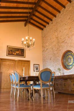 Tikkanen arquitetura: kırsal tarz tarz Yemek Odası
