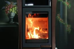 노출형벽난로(미카엘): SINJIN Fireplaces의  거실