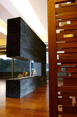 Acceso: Salas de estilo moderno por ArquitectosERRE