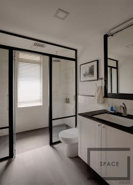 scandinavian Bathroom by Space Atelier Pte Ltd
