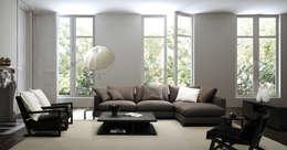 Modern style sofa 'LAZY TIME' : SOHOME의  거실