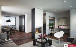 mediterranean Living room by disain arquitectos