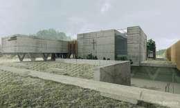 Seminarium Duchowne | Lublin: styl minimalistyczne, w kategorii Domy zaprojektowany przez H+ Architektura