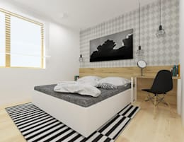 A+A: iskandinav tarz tarz Yatak Odası