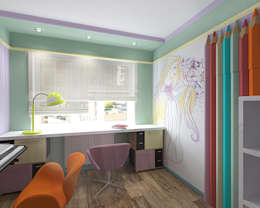 Chambre d'enfant de style de style Minimaliste par студия Виталии Романовской