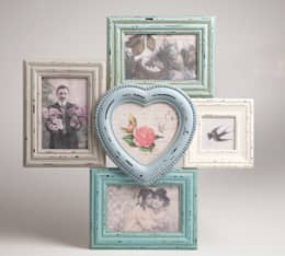 Antic Shabby Chic Wooden Multi Photo Frame in Pastel Colours - Distressed Look:  Walls & flooring by Vintagist.com