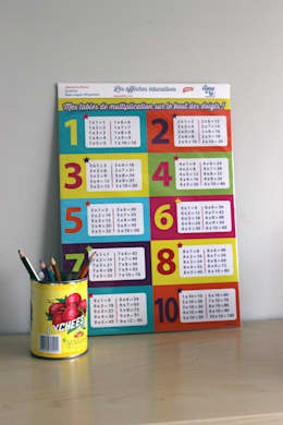 AFFICHE TABLES DE MULTIPLICATION: Chambre d'enfants de style  par A CAUSE DE TOI !