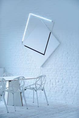 the white loft: Salle à manger de style de style Minimaliste par mayelle architecture intérieur design