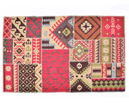 Patchwork Rugs:  Interior landscaping by Natural Fibres Export